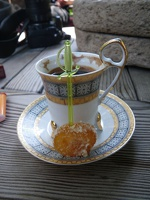 Turkish coffee with sweet.